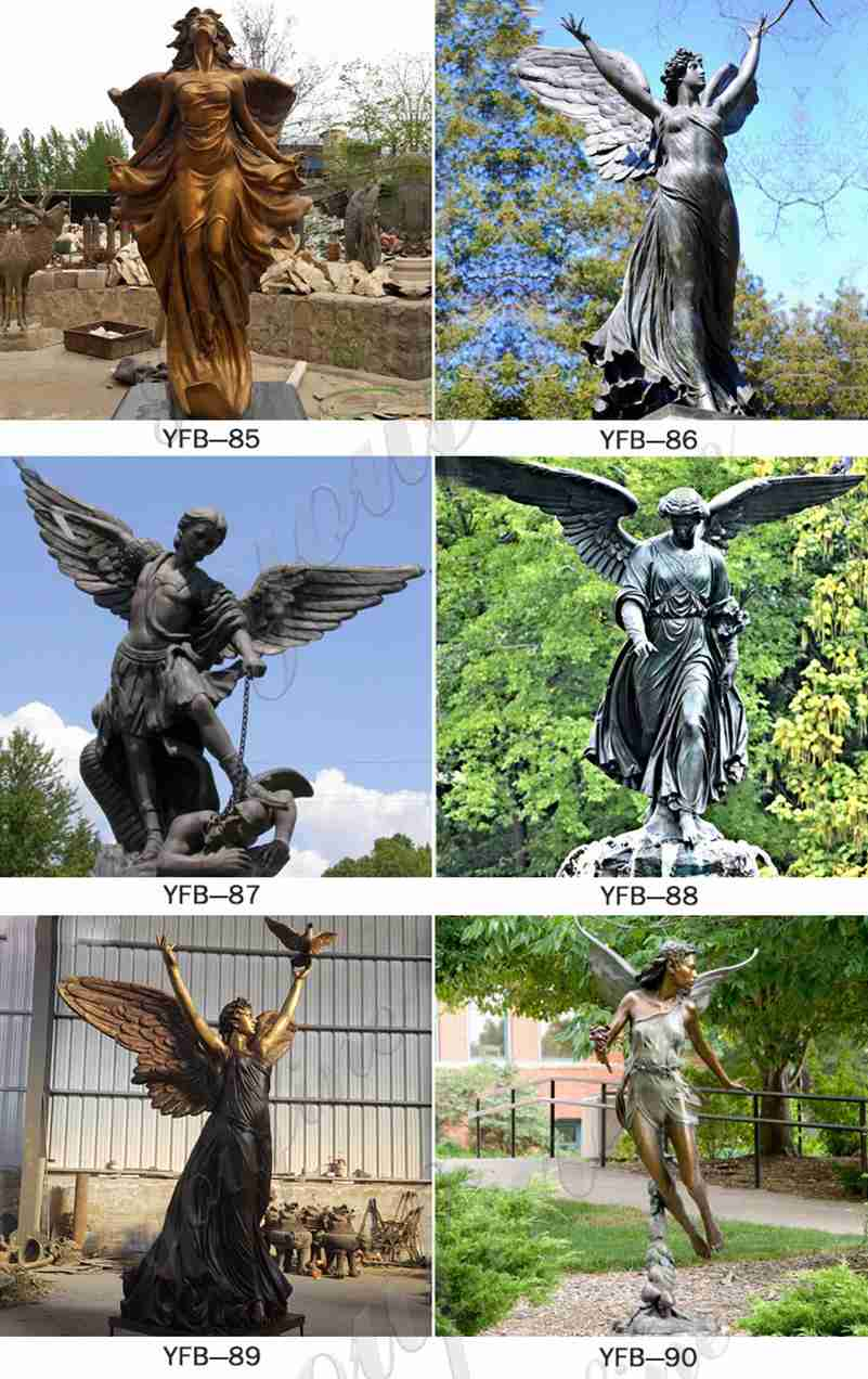 Large Bronze Angel with Dove Statue Suppliers
