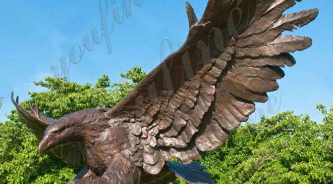 Высокое качество открытый большой бронзовый орел статуя для продажи