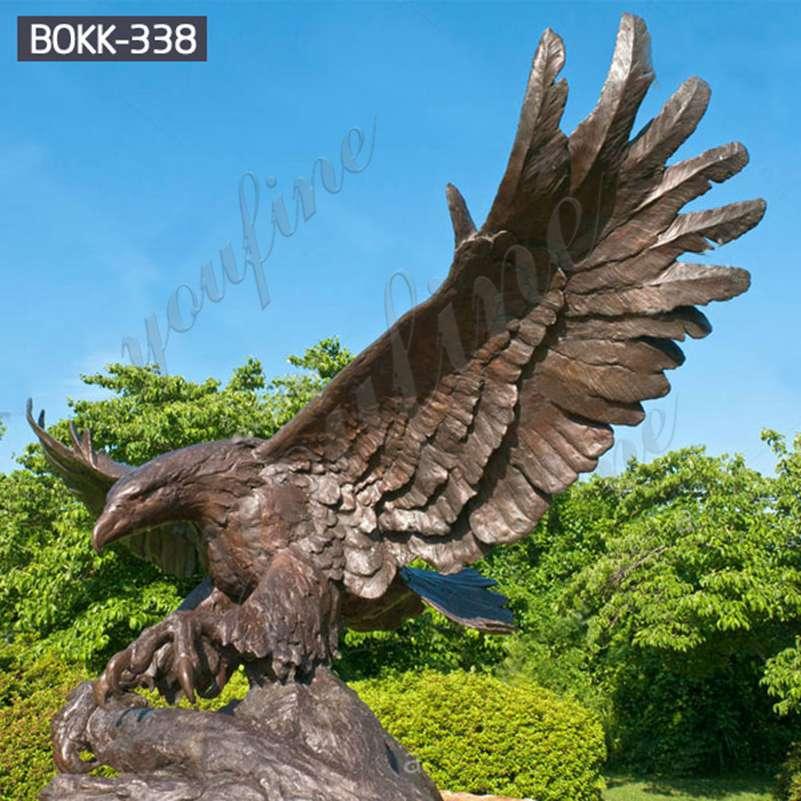 Высокое качество открытый большой бронзовый орел статуя для продажи BOKK-338