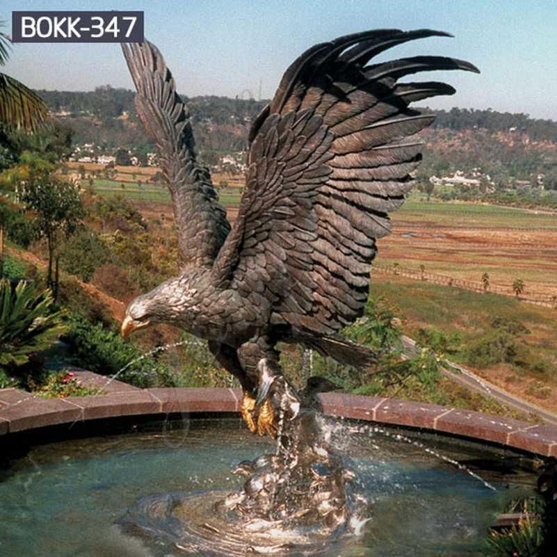 Купите большую напольную бронзовую статую животного Орла для сада BOKK-347