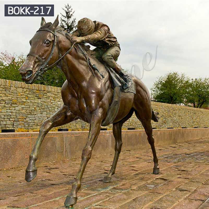 Купить бронзовую статую коня и Рыцаря в натуральную величину с завода BOKK-217