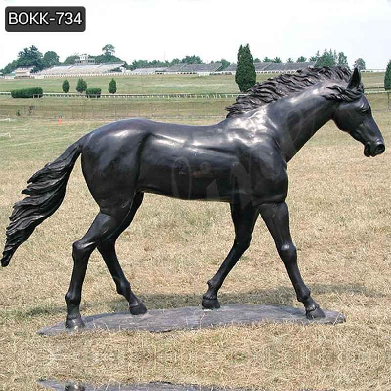 Купить дешевая цена Бронзовая литая лошадиная скульптура с завода BOKK-734