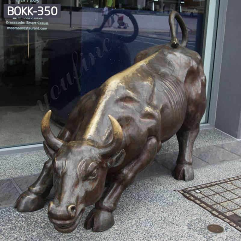 Напольная большая бронзовая статуя быка Уолл-Стрит для продажи BOKK-350