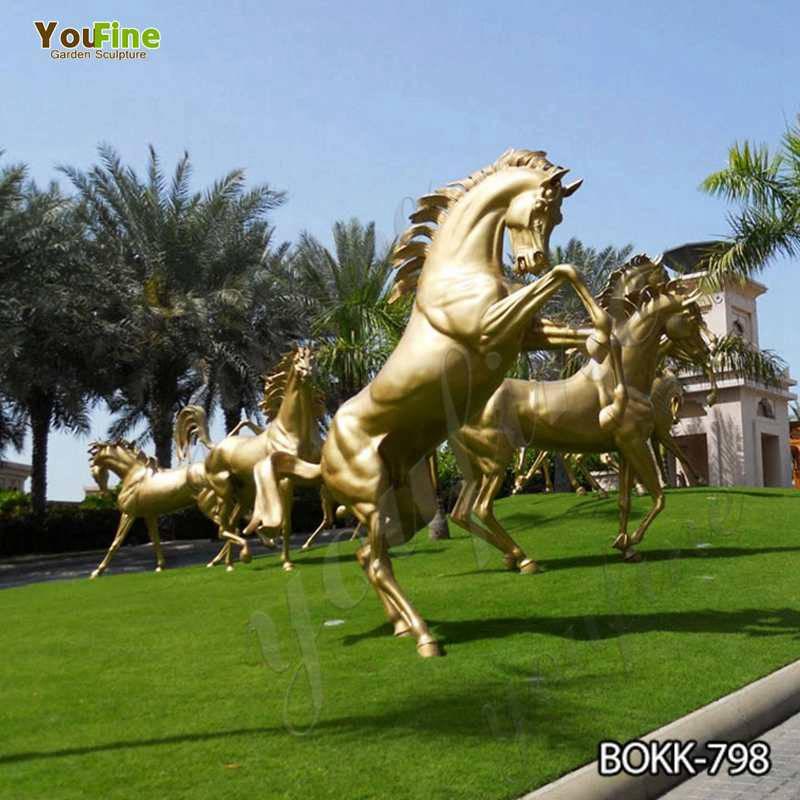 Цена завода размер жизни бронза конкурная лошадь скульптура на продажу BOKK-798
