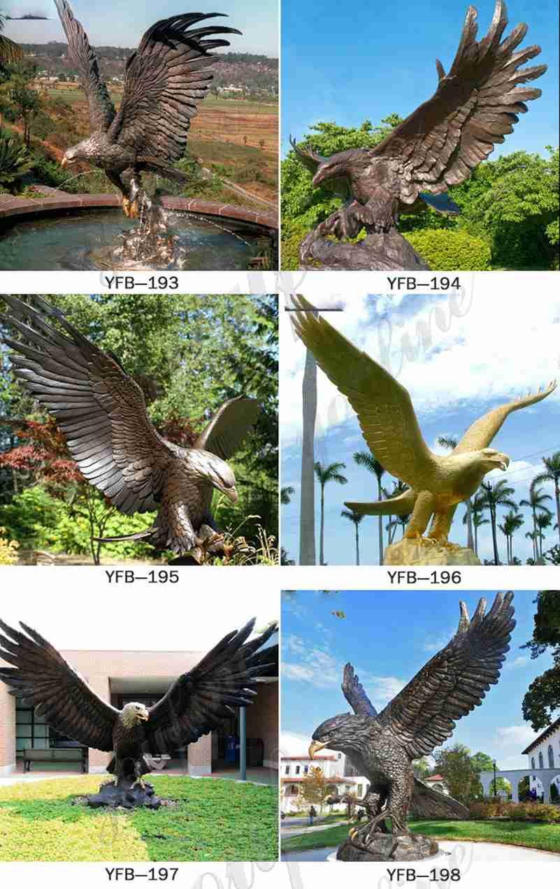 большая бронзовая статуя орла