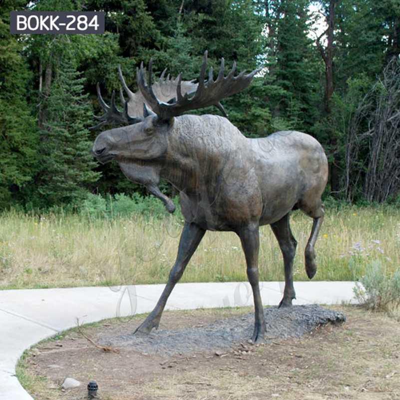 заказать скульптуру лося в натуральную величину из бронзы BOKK-284