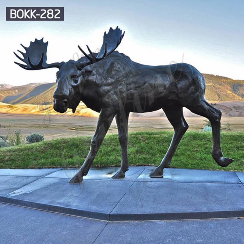 купить бронзовый лося статуи для украшения сада оптом из китая BOKK-282