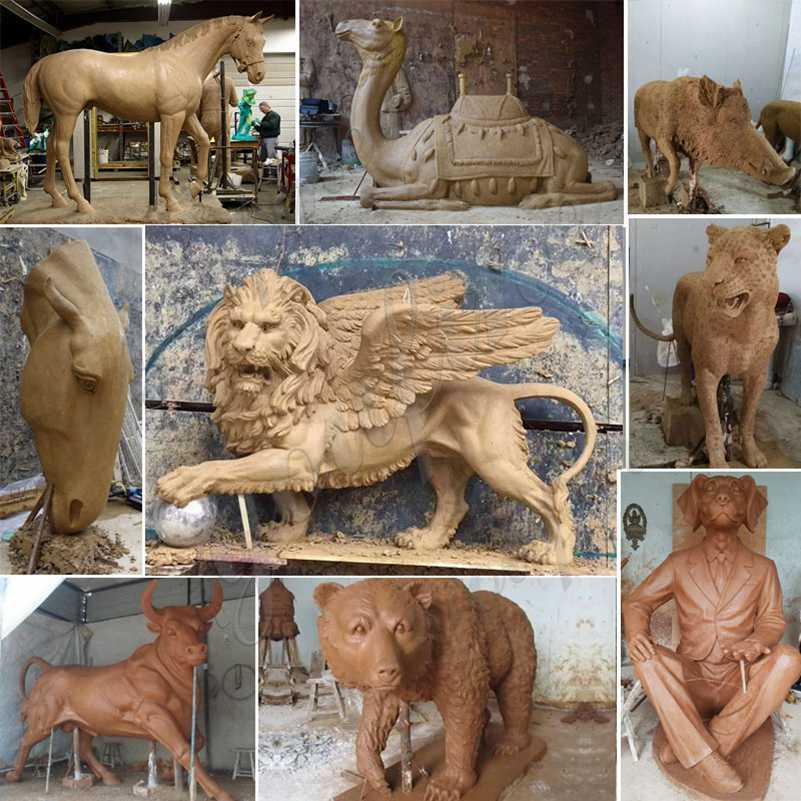 садовая скульптура из меди или бронзы