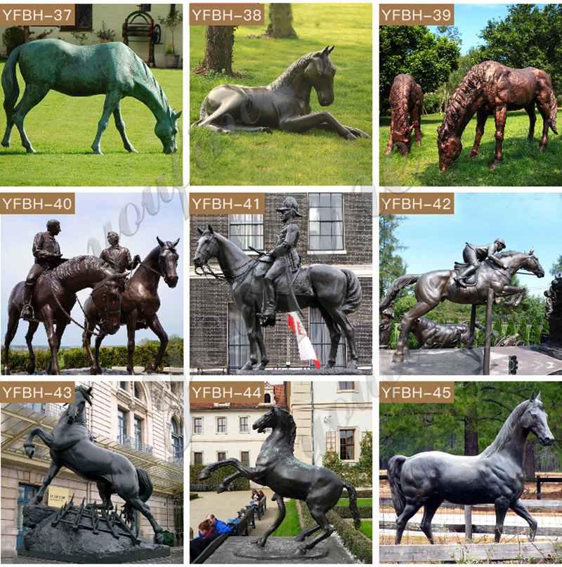 Бронзовая статуя лошади для продажи