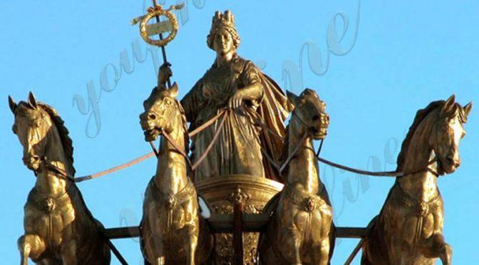 Дешевая цена Колесница Аполлона и лошади бронзовая скульптура Заводская поставка