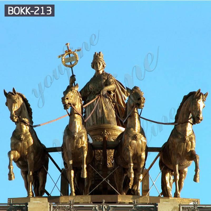 Дешевая цена Колесница Аполлона и лошади бронзовая скульптура Заводская поставка BOKK-213