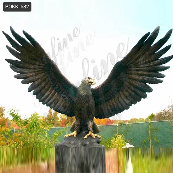 Купите большую бронзовую напольную статую орла от поставки фабрики BOKK-682