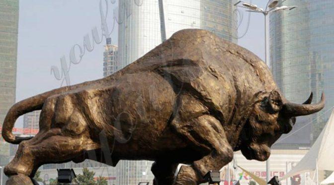 Купите дешевую цену большая бронзовая скульптура быка от фабрики