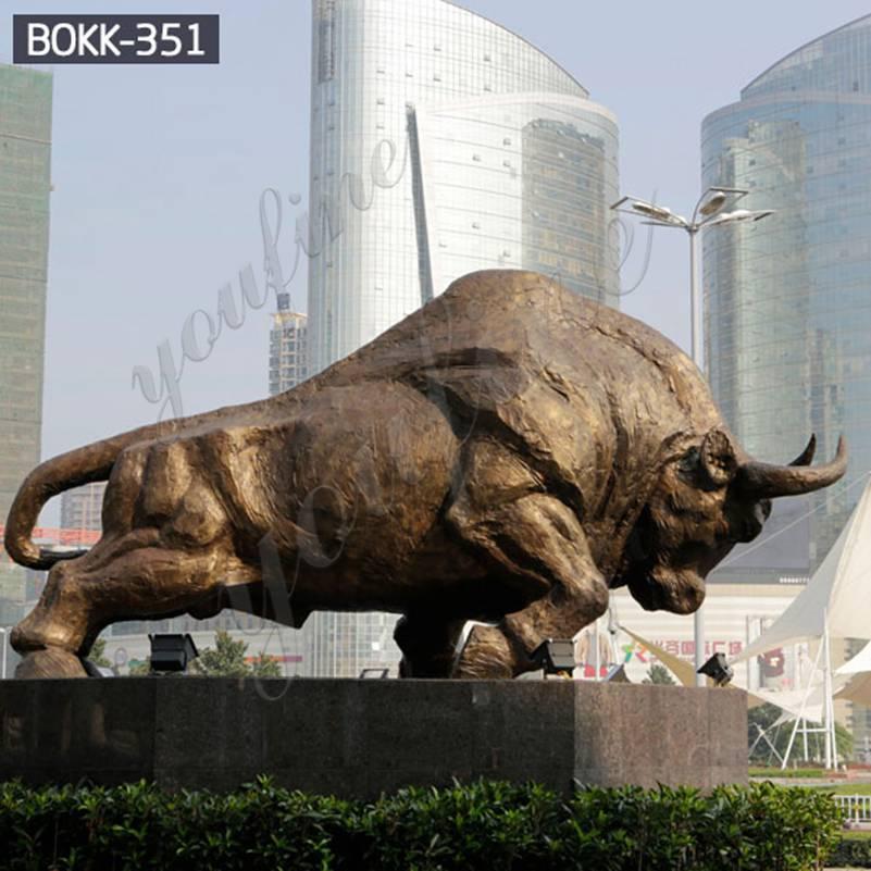 Купите дешевую цену большая бронзовая скульптура быка от фабрики BOKK-351