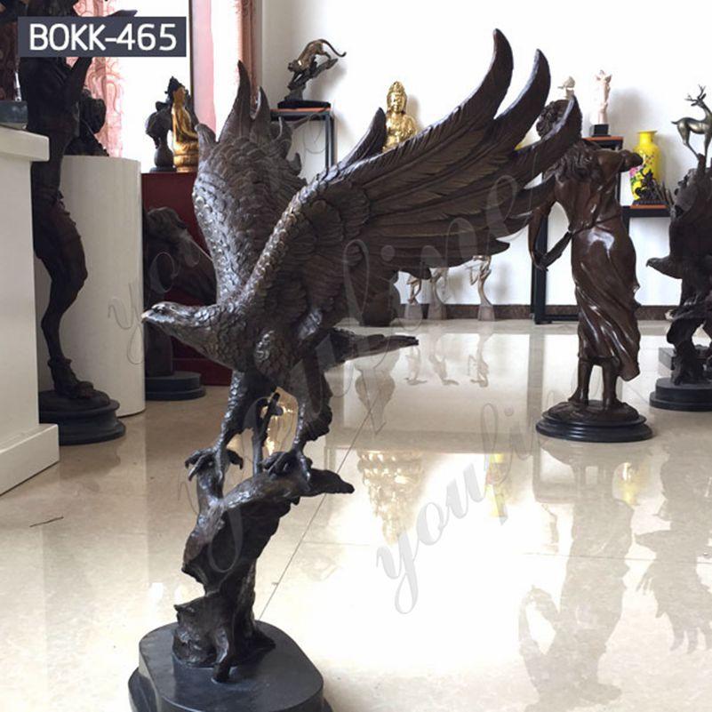 Купить бронзовую статую орла в натуральную величину для сада от фабрики BOKK-465