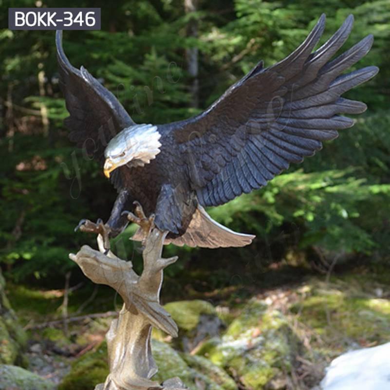 Купить бронзовый орел наружная скульптура для сада интернет BOKK-346