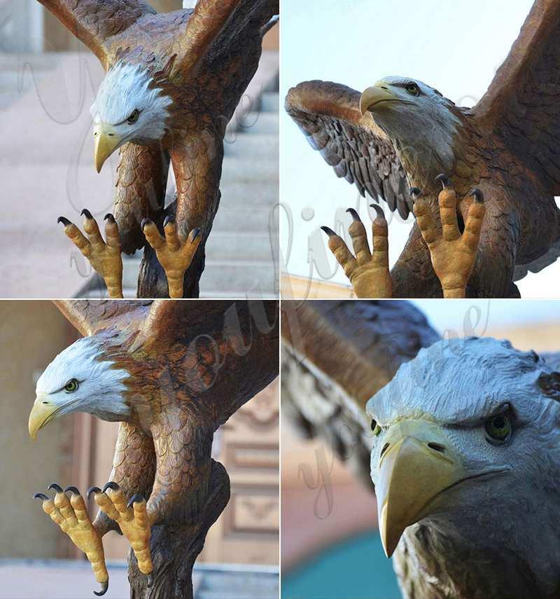 античная латунь статуя Орел