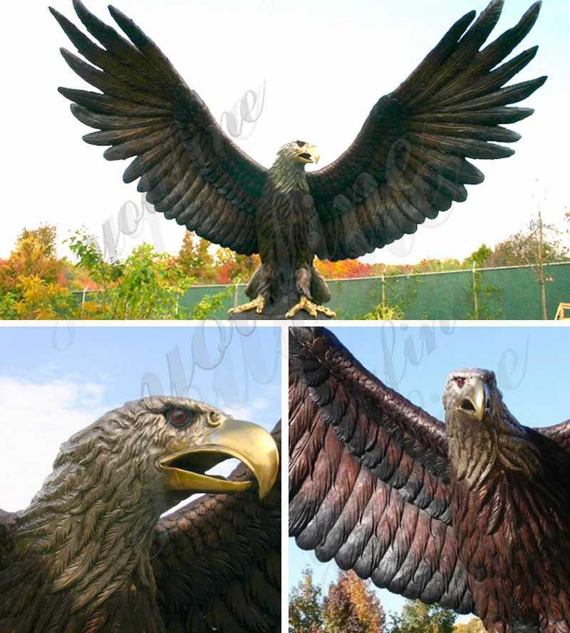 бронзовая статуя белоголового орла