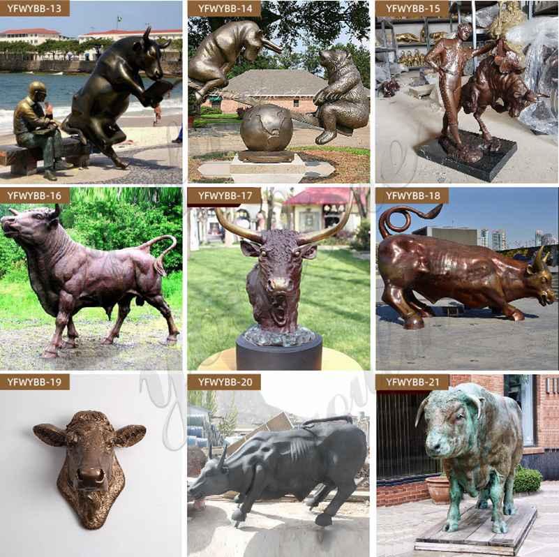 бронзовая статуя быка для продажи
