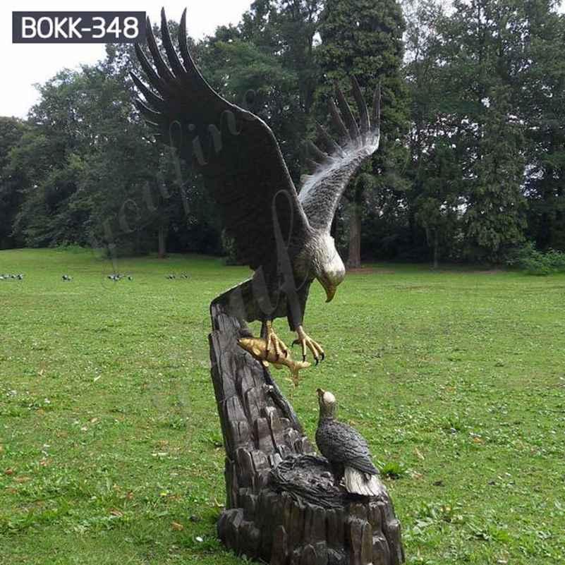 Купить бронзовую садовую скульптуру орла из заводских поставок BOKK-348