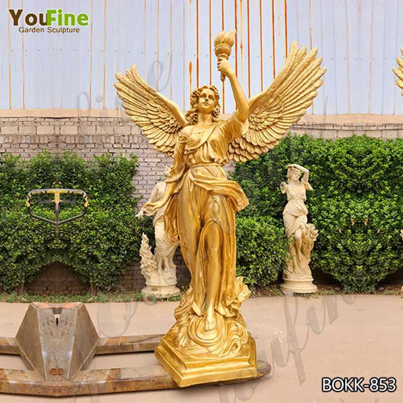 купить бронзовую скульптуру ангела в натуральную величину из заводских запасов BOKK-853