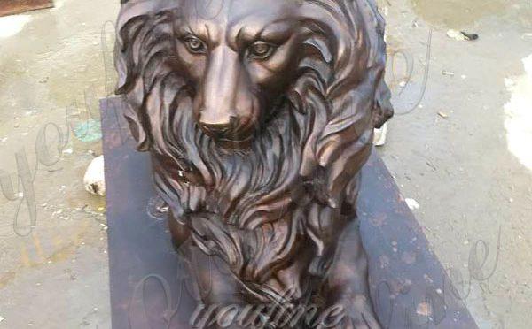 Бронзовая статуя льва-Хранителя в натуральную величину от Заводской поставки