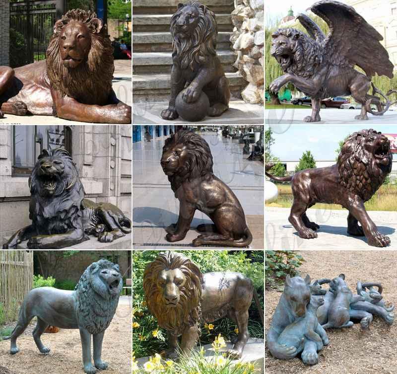 Бронзовая статуя льва