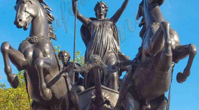 Знаменитая Королева Боадицея и ее дочери бронзовая статуя на продажу