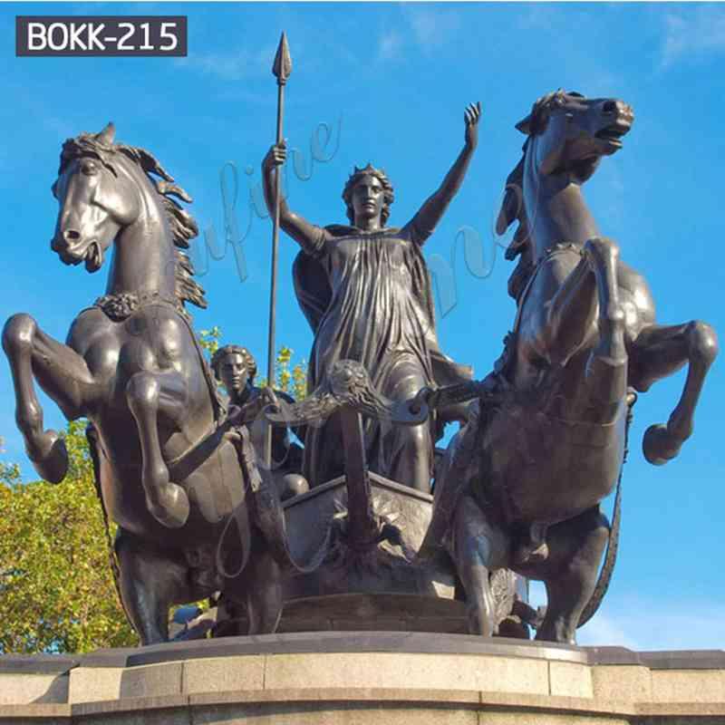 Знаменитая Королева Боадицея и ее дочери бронзовая статуя на продажу BOKK-215