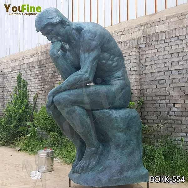 Знаменитый Роден Мыслитель бронзовая статуя реплика для продажи BOKK-554