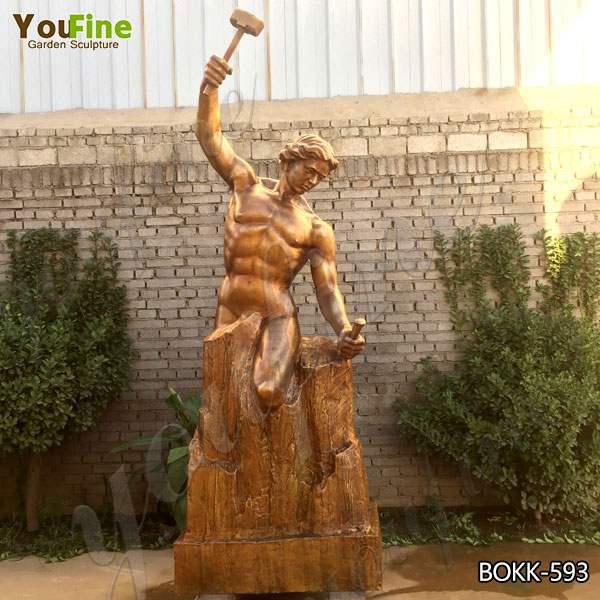 Фабрика Поставляет Знаменитую Бронзовую Самодельную Статую Человека В Натуральную Величину BOKK-593