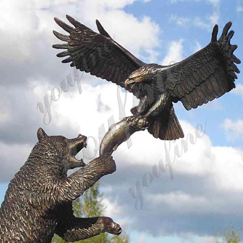 бронзовая скульптура медведя