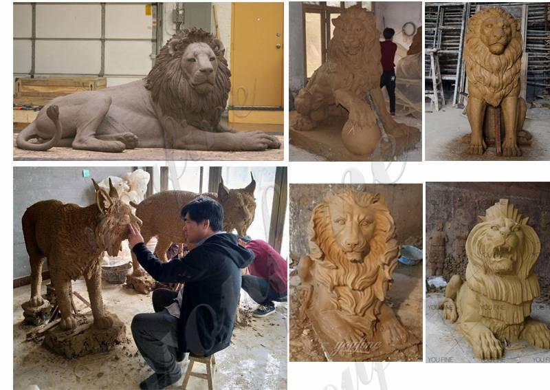 в натуральную величину бронзовая статуя льва