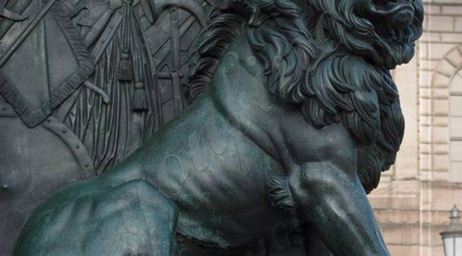 Большая античная бронзовая статуя льва для переднего крыльца поставщики