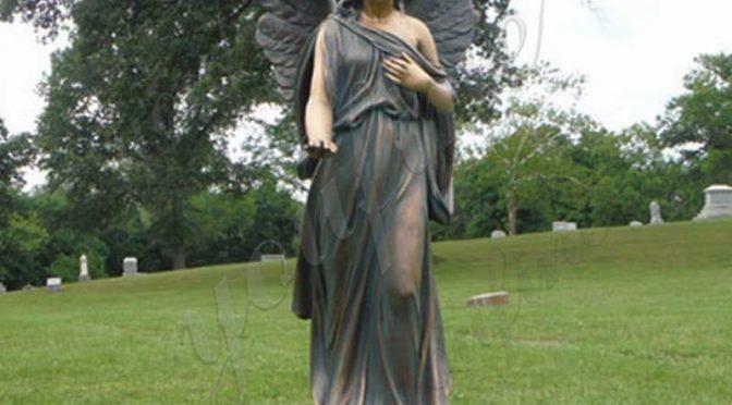 В Натуральную Величину Наружная Бронзовая Крылатая Скульптура Ангела Заводская Поставка