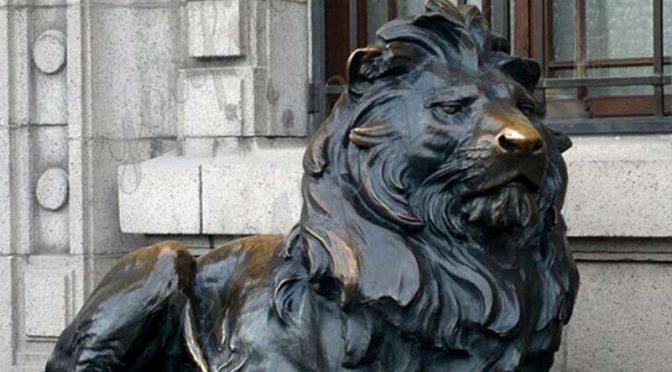 Западный стиль в натуральную величину бронзовая статуя льва домашний декор на продажу