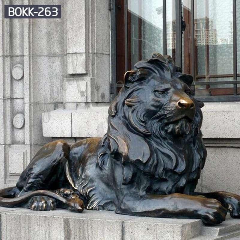 Западный стиль в натуральную величину бронзовая статуя льва домашний декор на продажу BOKK-263