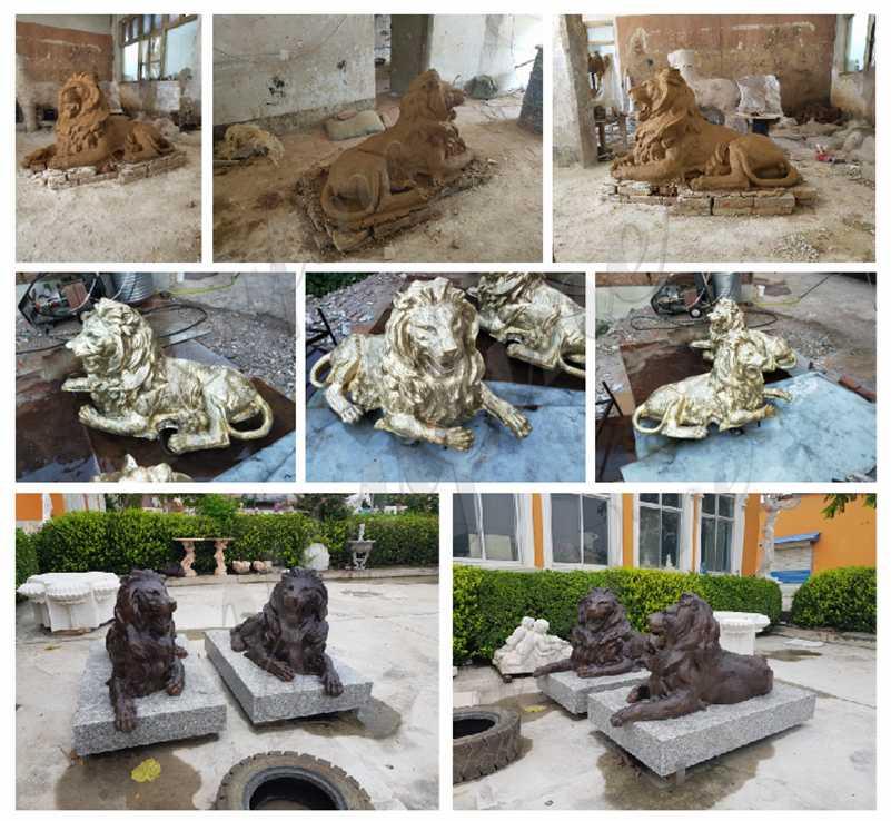 скульптура царь зверей бронз