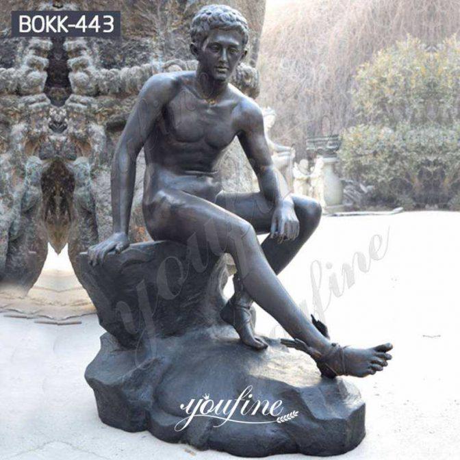 Дешевая цена Римская сидящая бронзовая статуя Меркурия для продажи
