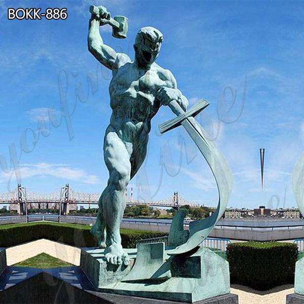 Знаменитые мечи на орала бронзовая скульптура для продажи BOKK-886