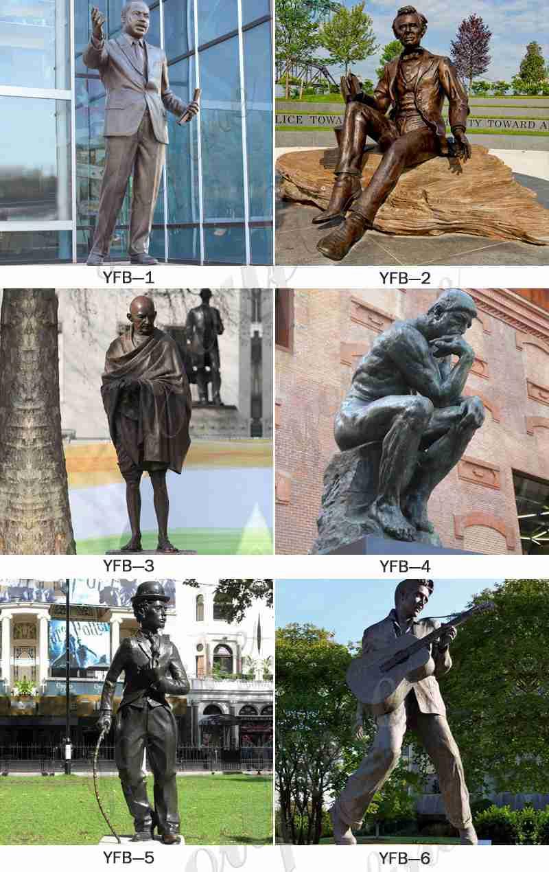 изготовленные на заказ бронзовые статуи