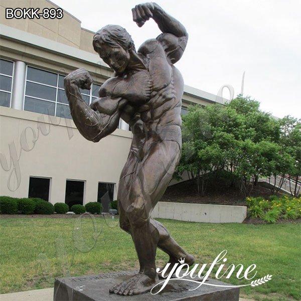 Дешевая цена выполненная на заказ бронзовая статуя Арнольда Шварценеггера для продажи BOKK-893