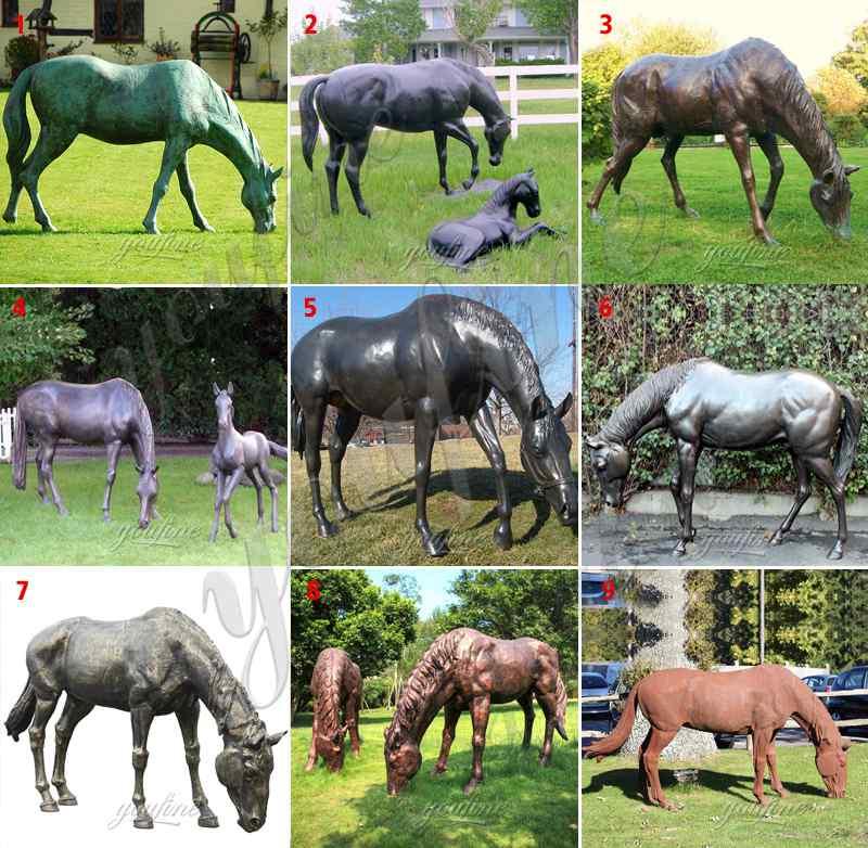 античные бронзовые статуи лошадей для продажи
