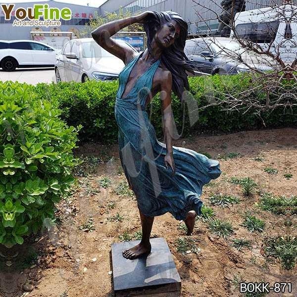 Античный садовый декор красивая Бронзовая сексуальная женская статуя для продажи BOKK-871