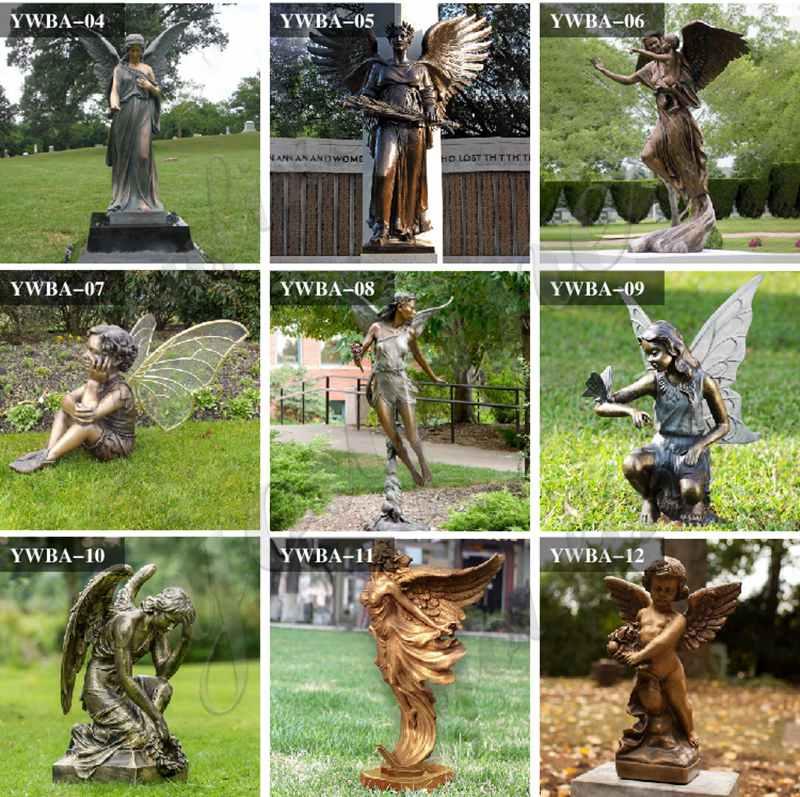 Бронзовая статуя крылатого ангела для продажи