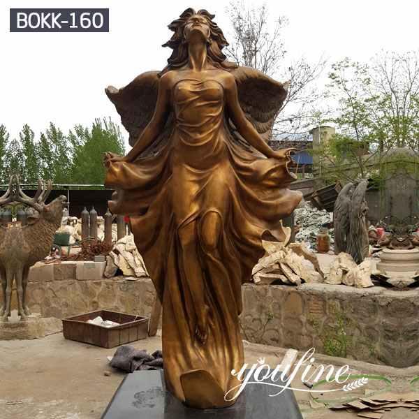 Выполненная на заказ Садовая бронзовая статуя ангела от фабрики поставки БОКК-160