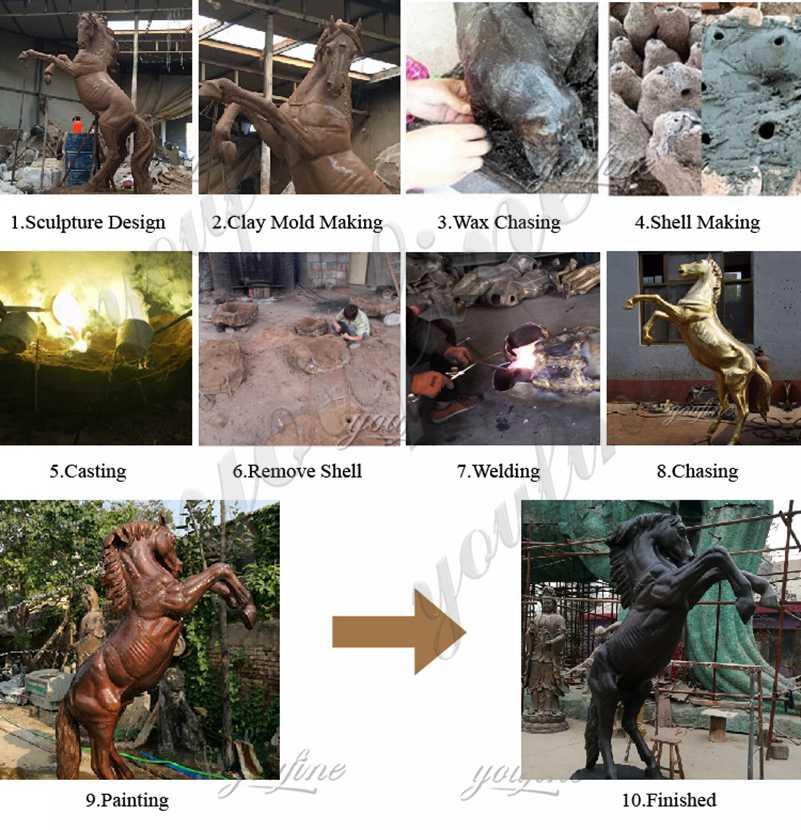античная бронзовая статуя лошади, статуи лошади в