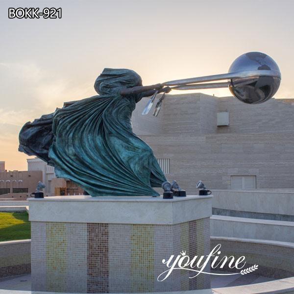 Открытый большой сила природы бронзовая скульптура для продажи BOKK-921