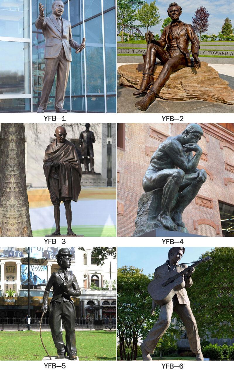 напольная бронзовая статуя