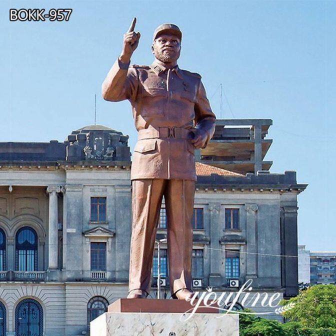 Знаменитая Большая статуя Саморы Моисе Машель Изготовленная на Заказ Бронзовая Скульптура для продажи